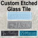 Custom Etched Glass Tile