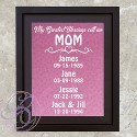 Mom's Greatest Blessings Frame