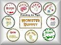 Monster Buffet Jar Tops