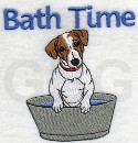 Bath Time Jack Russell Terrier