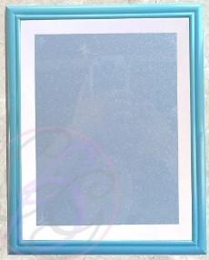 Blue Frame w/ Glitter Background