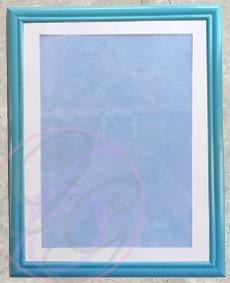 Blue Frame w/Texture Background