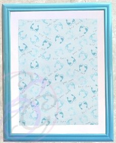 Blue Frame w/Tiny Toes Background