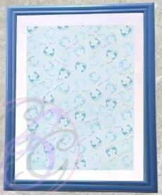 Darker Blue Frame w/ Tiny Toes Background