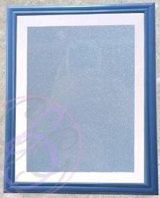 Dark Blue Frame w/ Glitter Background