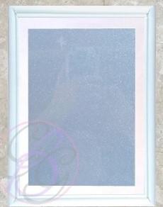 White Frame w/ Glitter Background