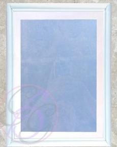 White Frame w/ Texture Background