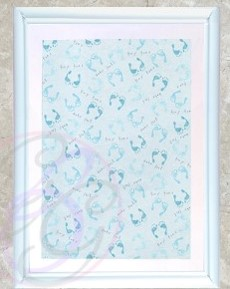 White Frame w/ Tiny Toes Background