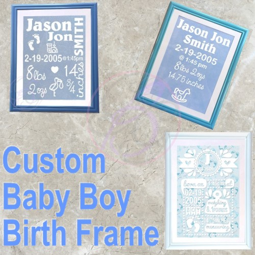 Baby Boy Birth Frame - Click Image to Close