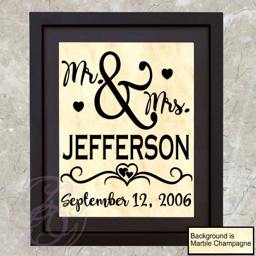 Mr & Mrs Name Frame (A) - Click Image to Close