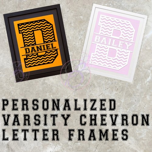 Varsity Chevron Name Frame - Click Image to Close