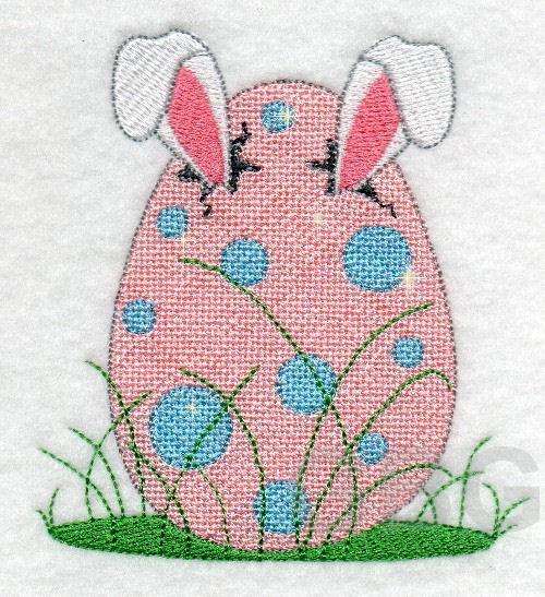 MYLAR Bunny Egg - Click Image to Close