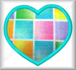 Applique Heart - Click Image to Close