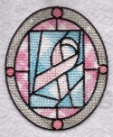 MYLAR Stained Glass Pink Ribbon