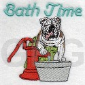 Bath Time Bulldog