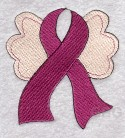 Pink Ribbon with Wings